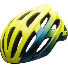 Bell Formula Helm, matte/gloss hi-viz/blue